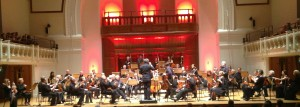Dr Julian Kenyon performs with the Doctors Orchestra